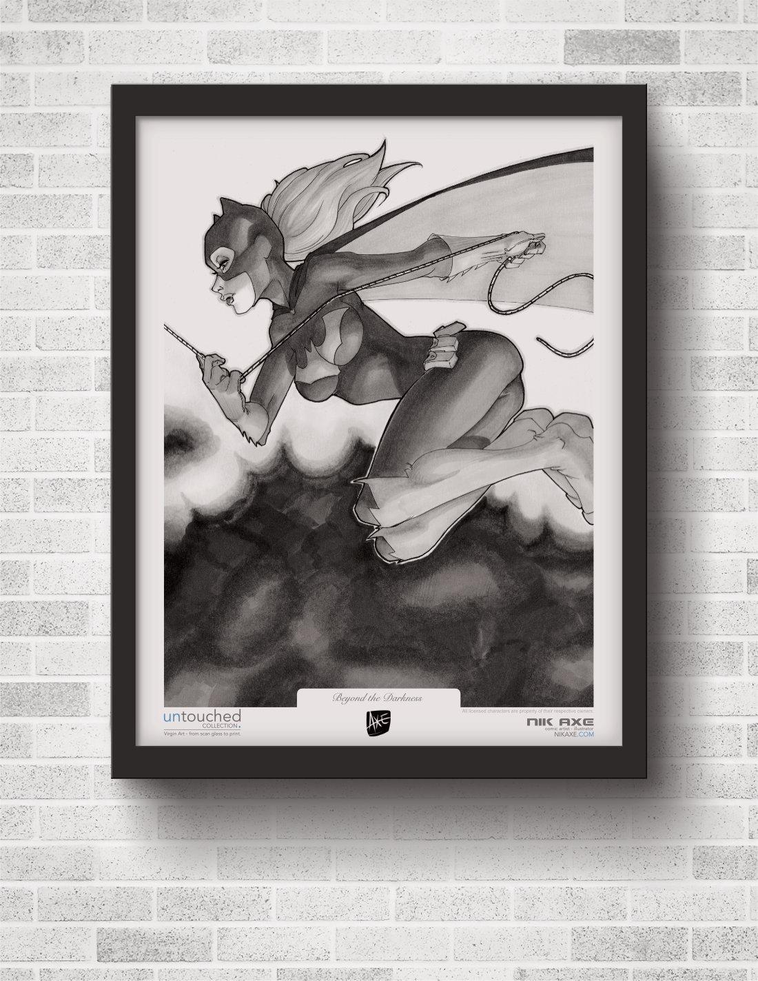 Batgirl Art Print Batman DC Comics Beyond the Darkness Hanging On Wall