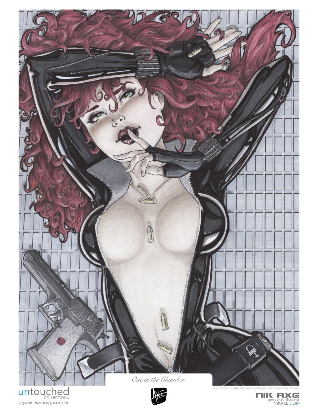 Black Widow Art Print Avengers Marvel Comics One in the Chamber