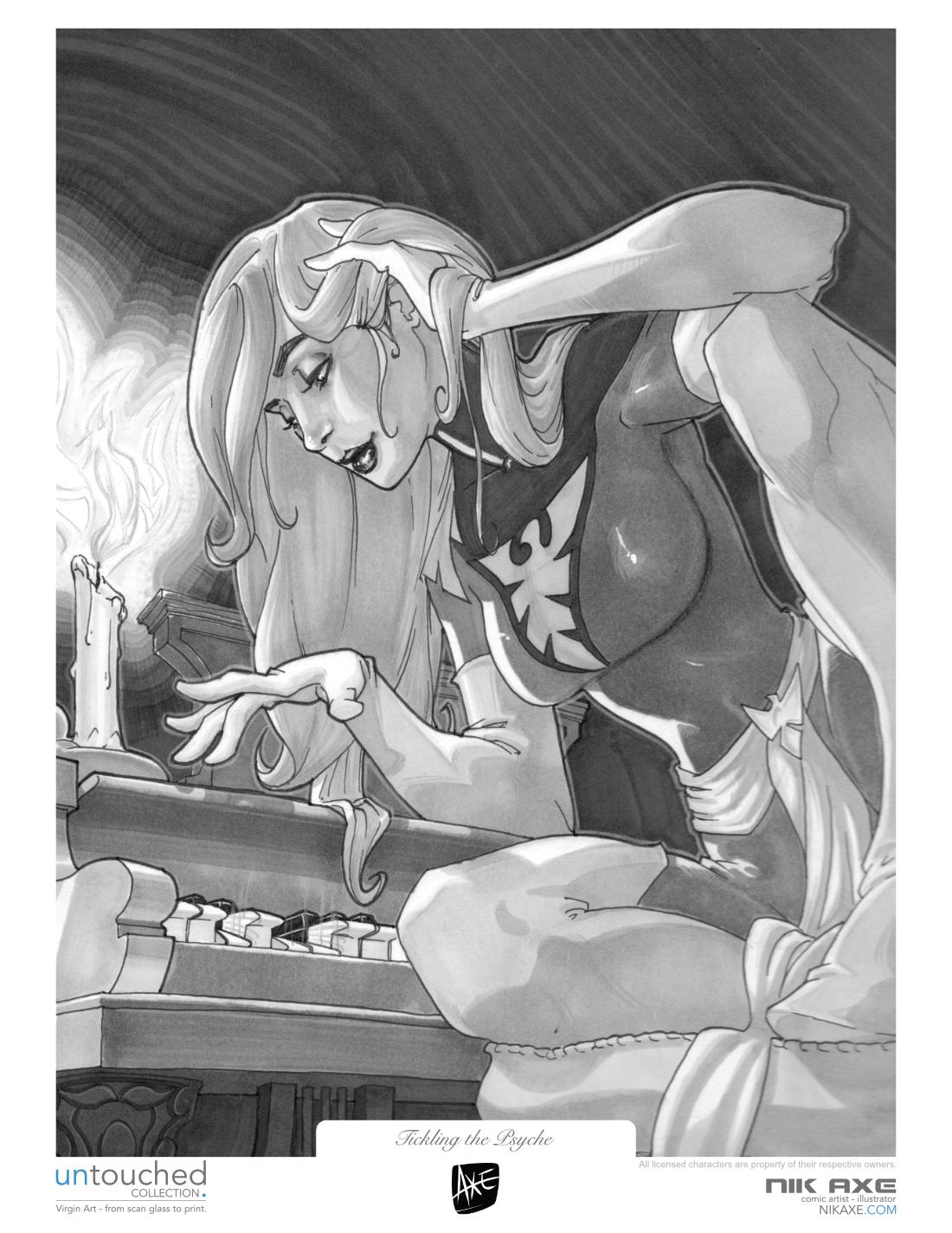 Jean Grey Art Print X-Men Marvel Comics Tickling the Psyche